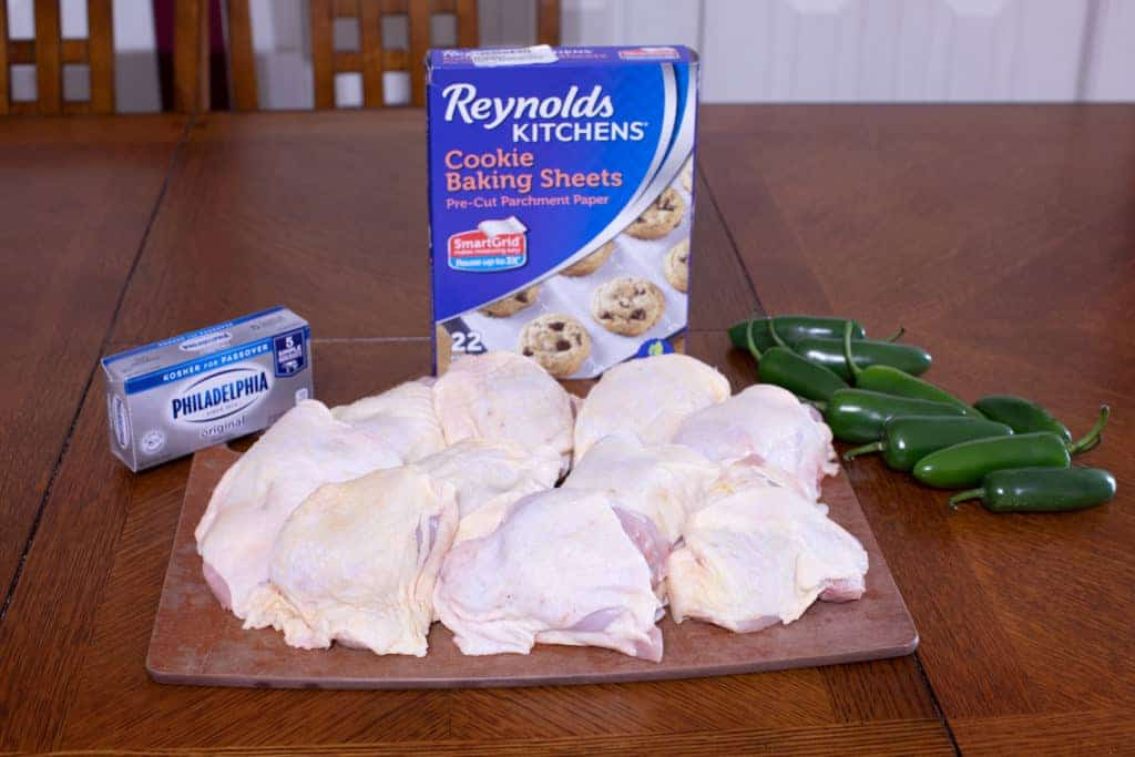 Ingredients for low carb jalapeno poppers