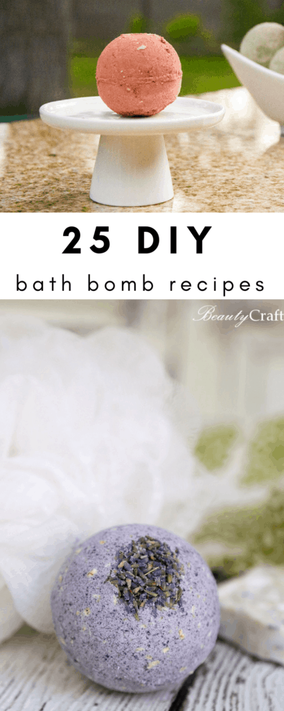 25 DIY Bath Bomb recipes for adults and kids!