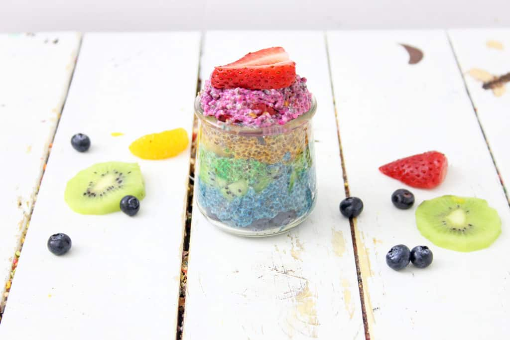 Homemade chia pudding with fruit