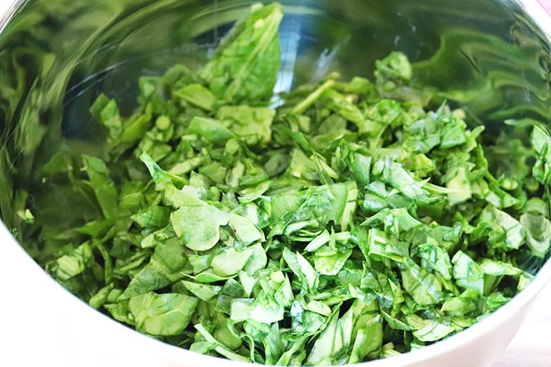 chopped organic spinach