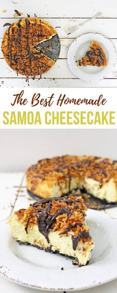 The best homemace samoa cheesecake