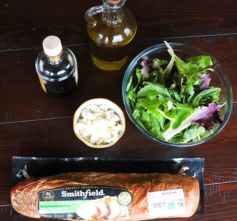ingredients to make a pork loin salad