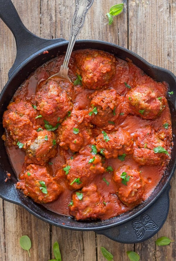 Mom's Easy Traditional Italian Meatballs | An Italian in my Kitchen