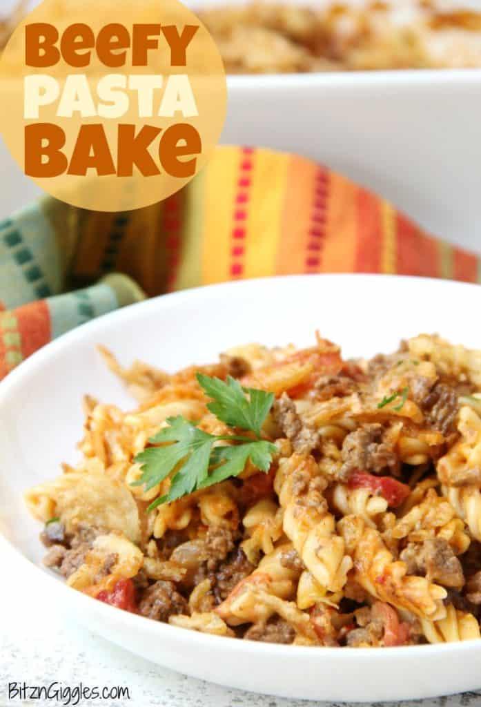 Beefy Pasta Bake | Bitz & Giggles