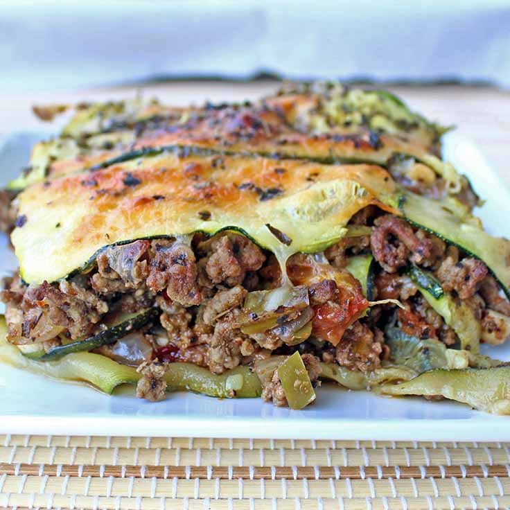 Low Carb Zucchini Lasagna | Diabetes Strong
