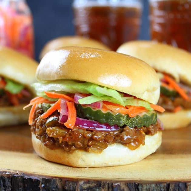 Asian Sloppy Joes with Pickled Carrots and Onions | Taste and See