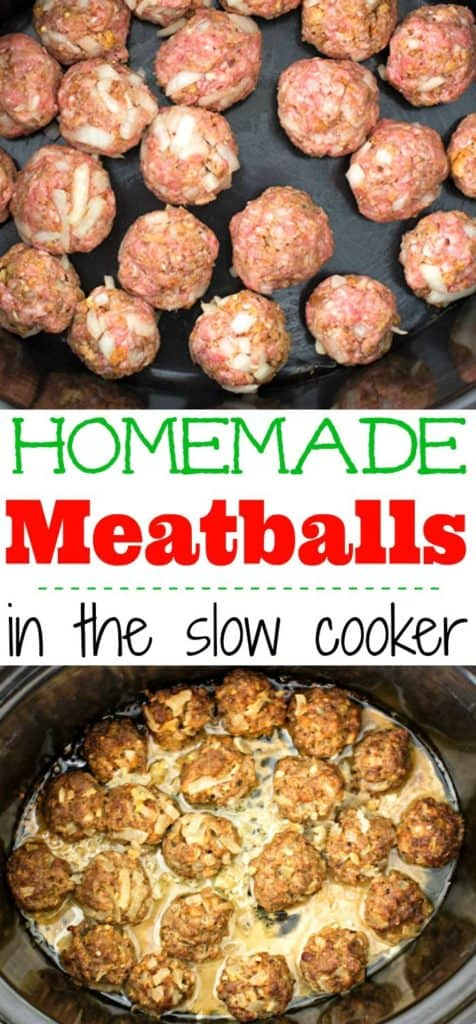 Easy Home Style Slow Cooker Meatballs | Mainly Homemade