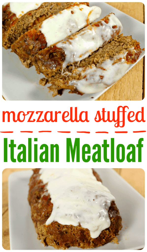 Mozzarella Stuffed Italian Meatloaf | Mainly Homemade