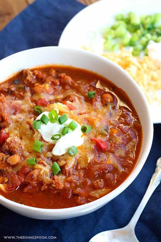 Beef & Chiorizo Chili | The Rising Spoon