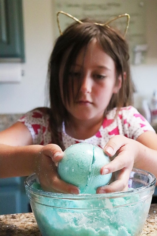 Homemade for Elle bath bombs for kids