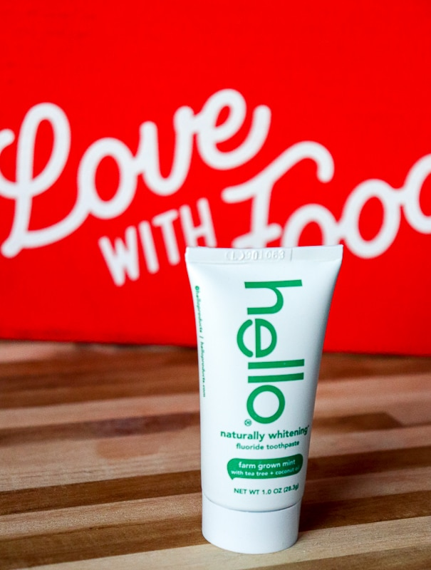 Love with Food Subscription Box - Hello Naturally Whitening Fluoride Toothpaste