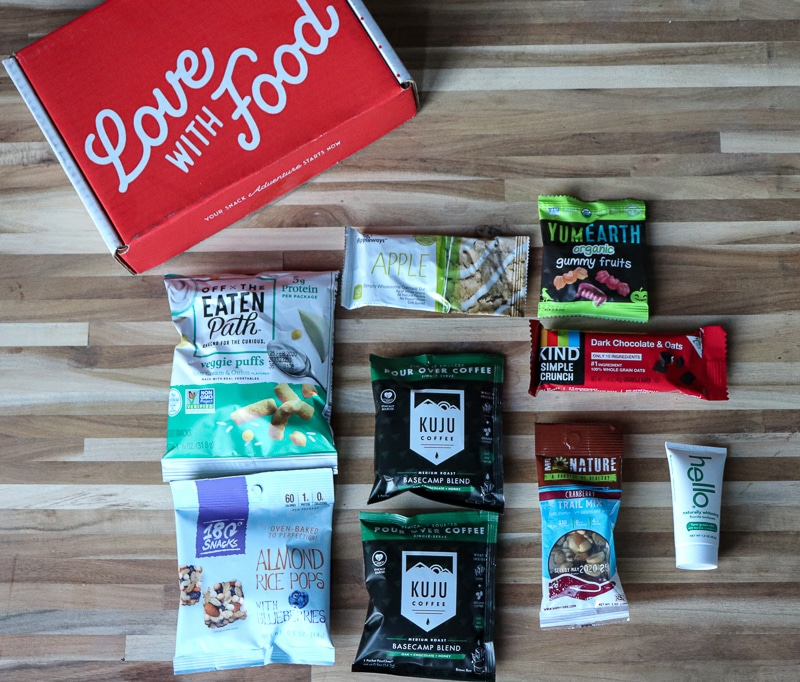 Love with Food October 2019 Food Subscription Box
