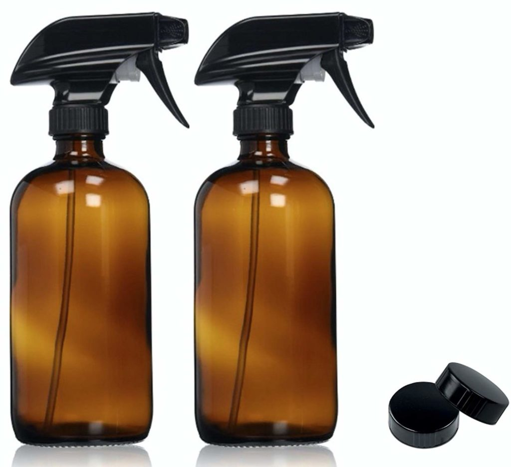 Amber Glass Spray Bottles for homemade glass cleaner