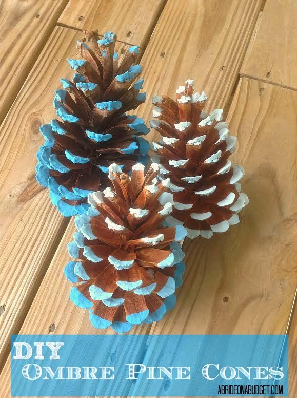 DIY Ombre Pinecones