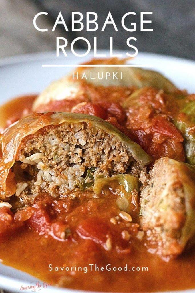 Sauerkraut stuffed cabbage rolls
