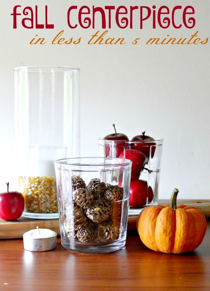 5 Minute Fall Centerpieces