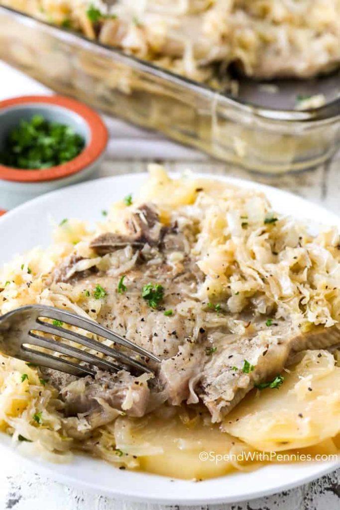 Pork and Sauerkraut Bake