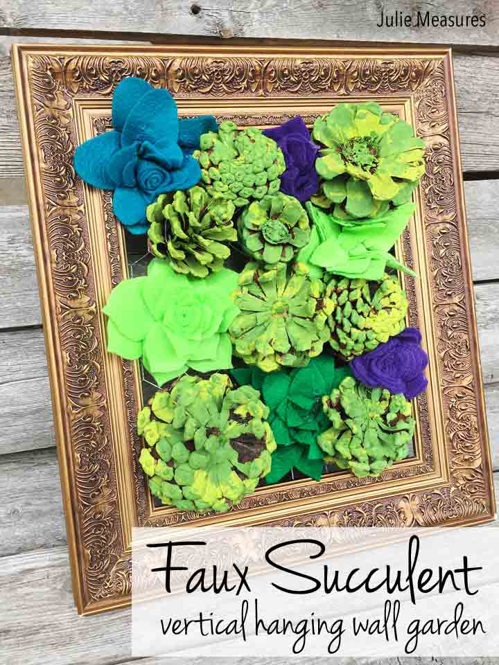 Faux Succulent Vertical Wall Hanging