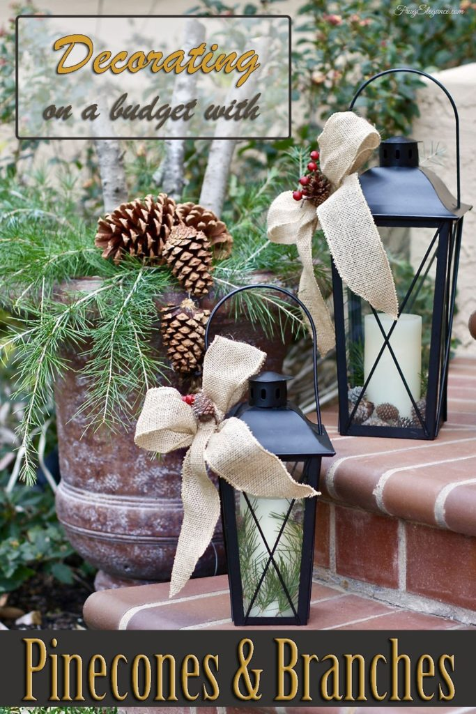 Decorating with Pine Cones and Branches