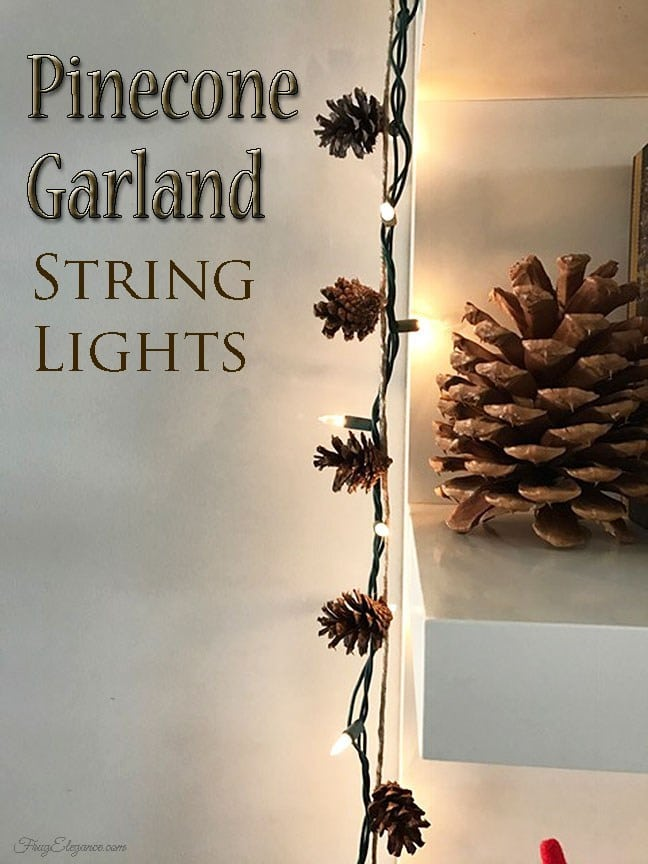 Pine Cone String Light Garland
