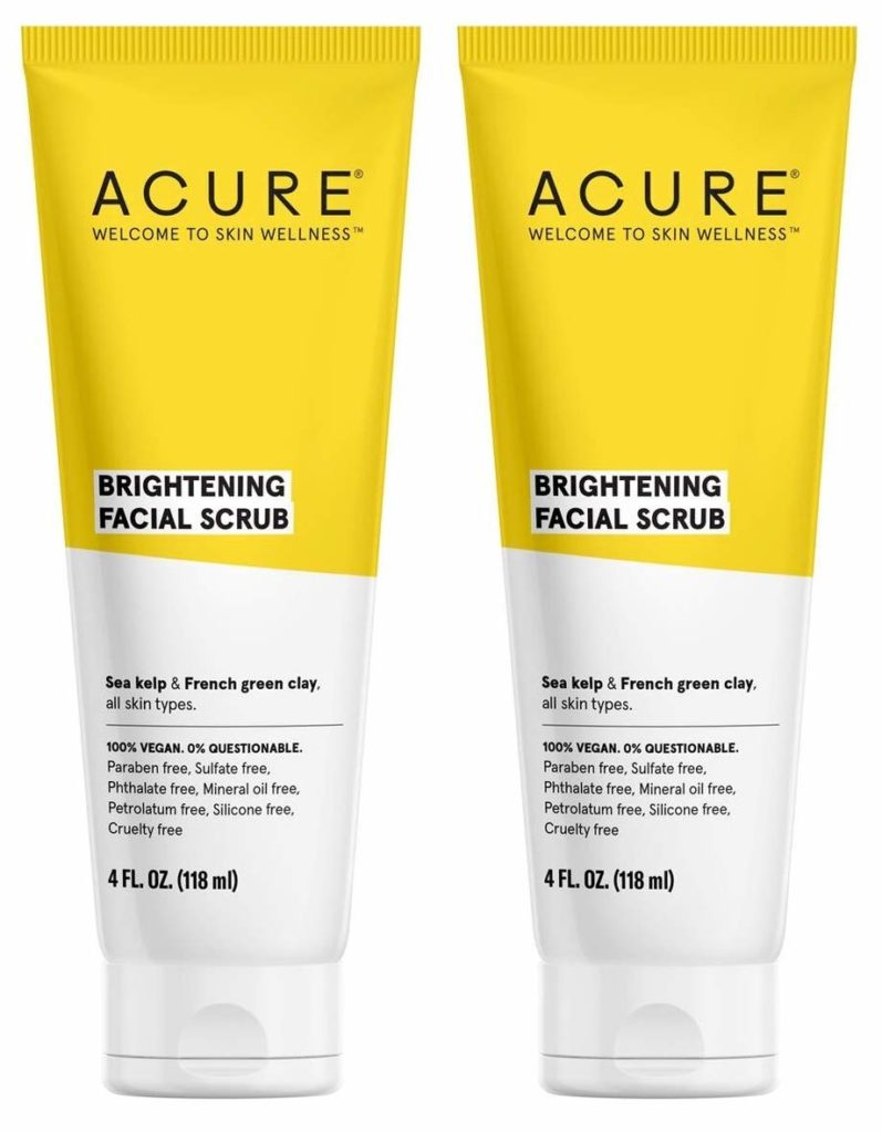 Acure Brightening Facial Scrub for Dry Skin