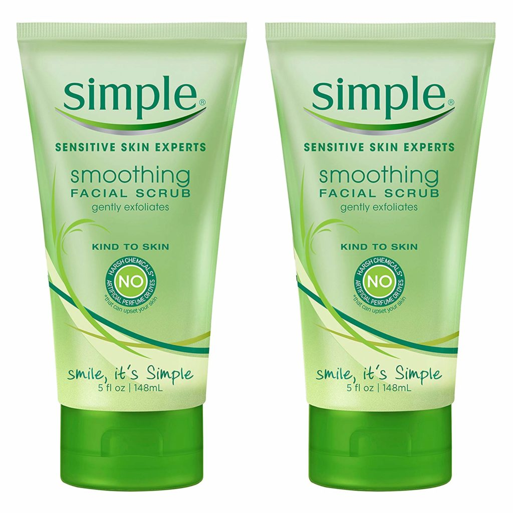 Simple Sensitive Skin Smoothing Facial Scrub