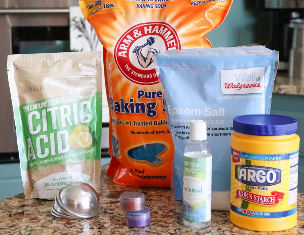 Ingredients for Homemade Lush Bath Bombs
