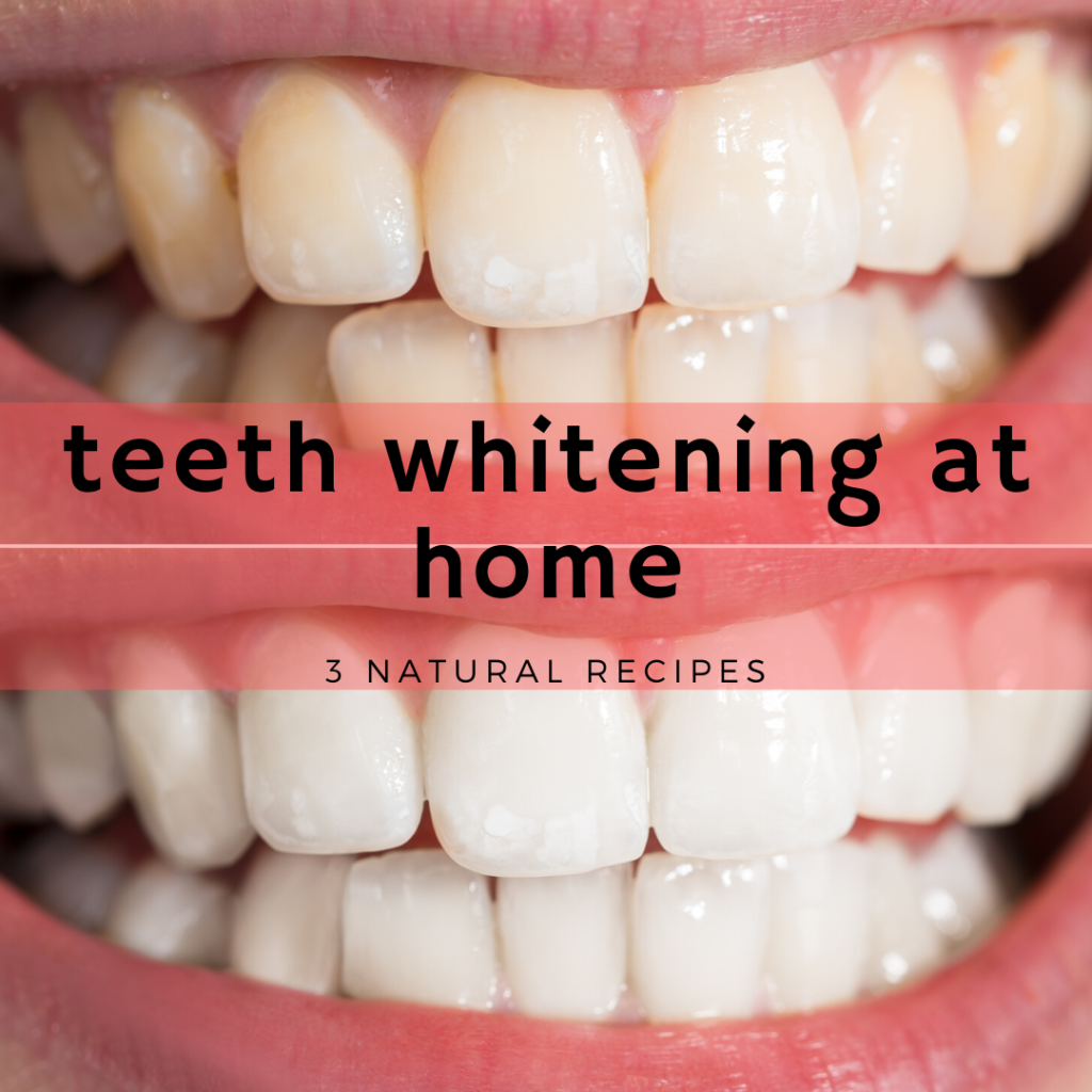 3 Recipes - Teeth Whitening at Home