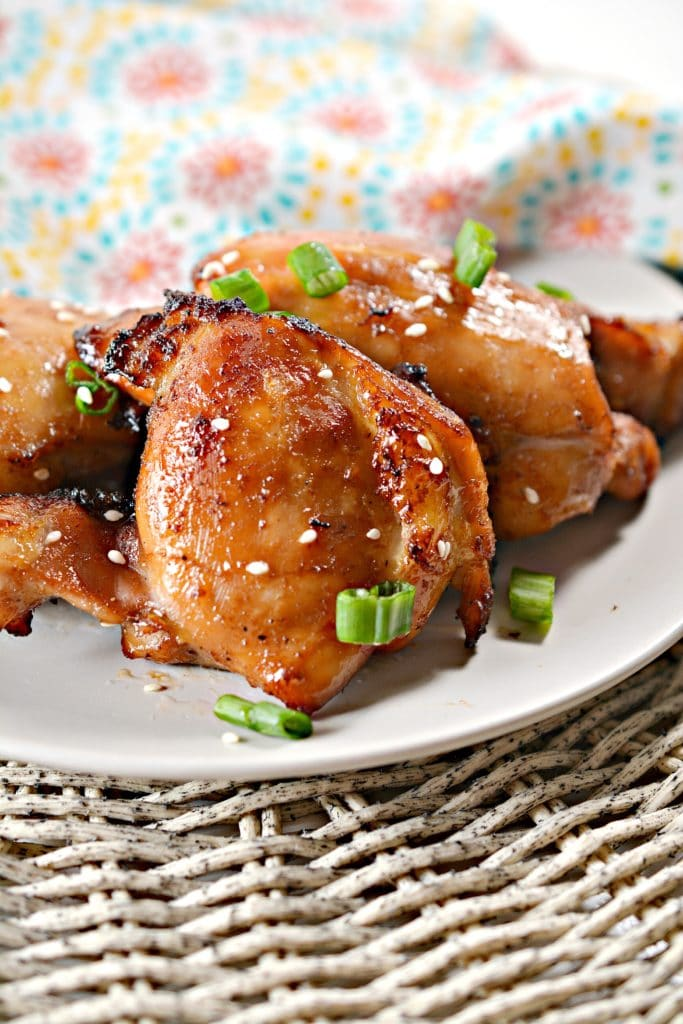 Air Fried Keto Sticky Chicken Thighs